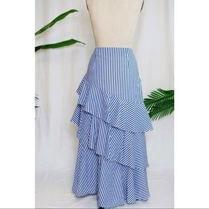 Banana Republic Ruffled Tiered Maxi Skirt